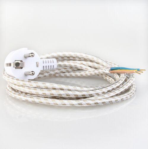 FERRO da stiro-circuito interno cavo 2 metri textilumflochten con spina