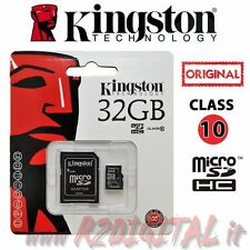 KINGSTON MICRO SD 32 GB CLASSE 10 TRANSFLASH SCHEDA MEMORIA HC ADATTATORE 32GB