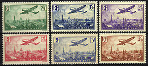 Francia-France-1936-Airmail-complete-set-Neuf