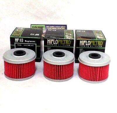 HONDA TRX 400EX 400 EX X SPORTRAX 3 PACK OIL FILTERS 99-14 400X OIL FILTER