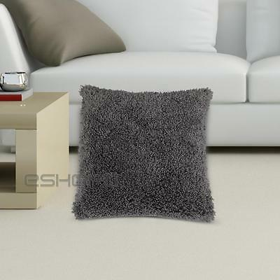 Smoke Grey Square Pillow Cushion Pillowcase Case Cover 45x45cm