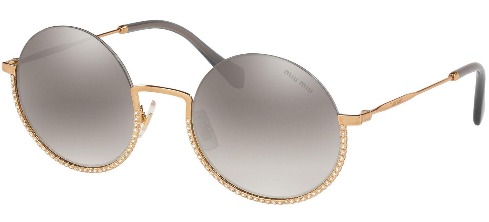 Miu Miu SMU 69U Gold/Grey 52/22/140 women Sunglasses
