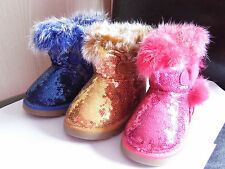 Gold sequin boots for girls, Infant size 7,  (UK seller)