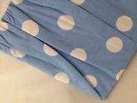 Blue Dots Full Bed Skirt Dust Ruffle Company Store Circles Sky Dot Bluebell