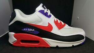 factory price order newest Details about NIKE AIR MAX 90 ESSENTIAL WHITE RED ORBIT PURPLE BLACK  AJ1285-106 MENS RAPTORS