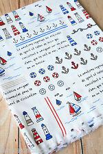Nautical Cotton Fabric zakka cute cartoon Anchor sewing quilting patchwork craft