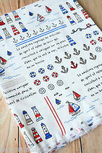 Nautical-Cotton-Fabric-zakka-cute-cartoon-Anchor-sewing-quilting-patchwork-craft