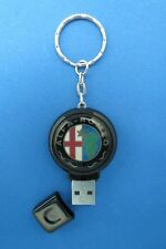 ALFA ROMEO LOGO 2GB THUMB DRIVE KEYRING KEY RING CHAIN #283
