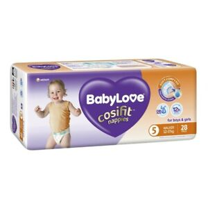 Babylove Unisex Cosifit Walker Nappy 12-17 Kg Size 5 28 pack