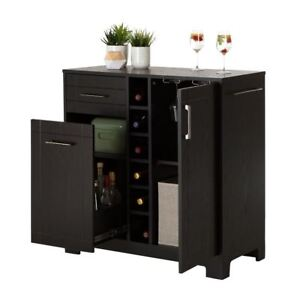 Image Is Loading Liquor Cabinet Home Mini Bar Furniture Buffet Table