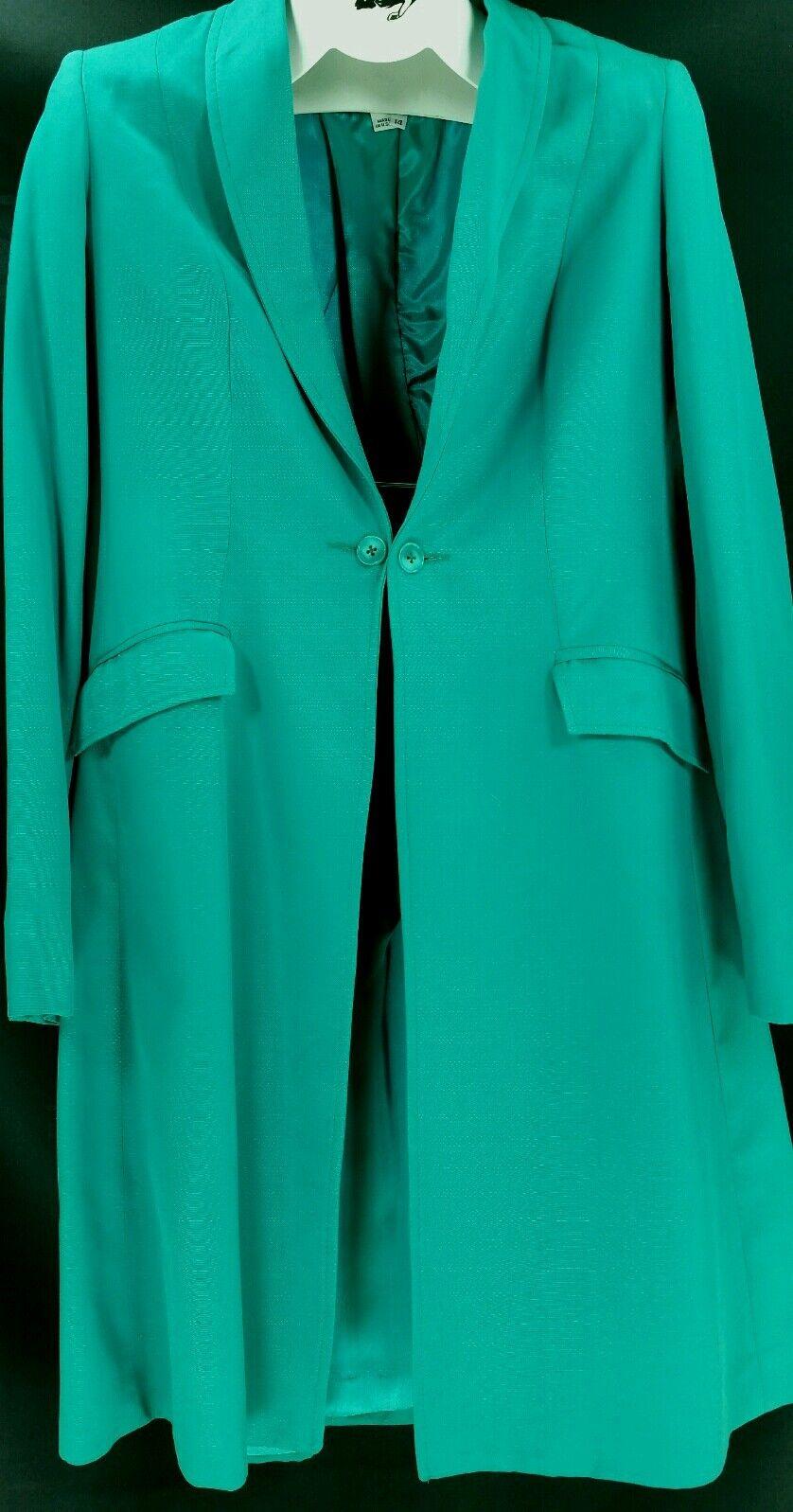 Reed Hill Ladies Saddleseat Day Coat Emerald Green   Polyester size 14 - USA  zero profit
