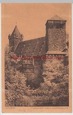 (96129) Ak Nürnberg, Fünfeckiger Turm, Kaiserstallung, Burg 1923