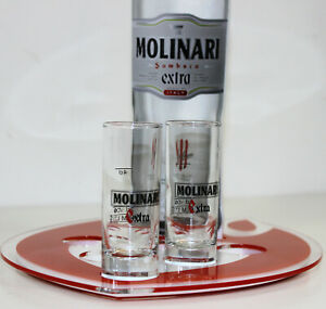 Molinari Geschenk SET: 1 Shothalter + 2 Gläser, alles original +