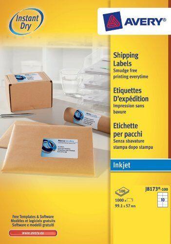 Avery white plain address labels 100 Sheet Packs J8173-100