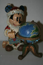 Disney Traditions 4033271 Mickey Mouse Santa with Globe and List