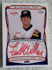 Lance McCullers 2010 Topps USA Baseball 18U Red Ink Auto #41/99 Houston Astros