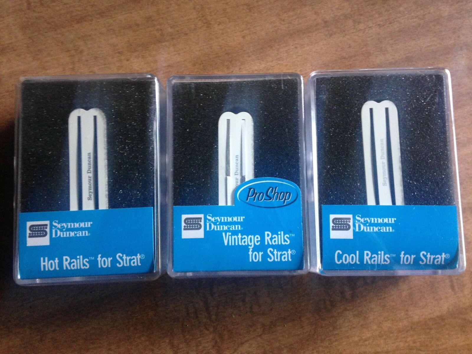 Seymour Duncan Rails Set Hot Rails, Cool Rail, Vintage Rail, SHR, SVR, SCR Weiß
