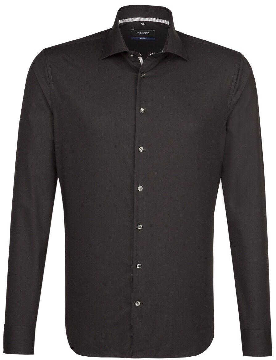 Seidensticker NERA rosa   tailored Camicia Nero 01.247026.39