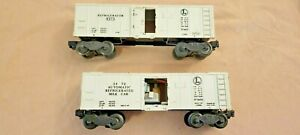 Lionel O Scale Refrigerated Milk Car 3472 and Reefer Car 6472.