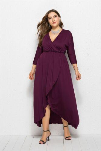 Fashion Women/'s v-Cou Robe Longue Grande Taille Soirée Robes de cocktail robe