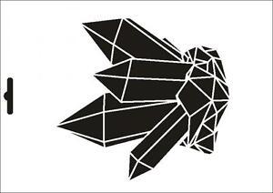 Wandschablone Maler T-shirt Schablone W-009 Blume ~ UMR Design