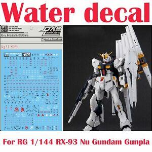 For-RG-1-144-RX-93-Nu-Gundam-Gunpla-D-L-Dalin-WaterSlide-Decal-Stickers-RG33-NEW