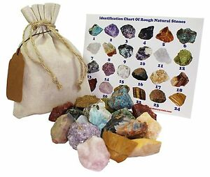 Mixed Rough Natural Stones 1 Lb (.5 Kg) Bulk Reiki Chakra Healing Crystals Miner