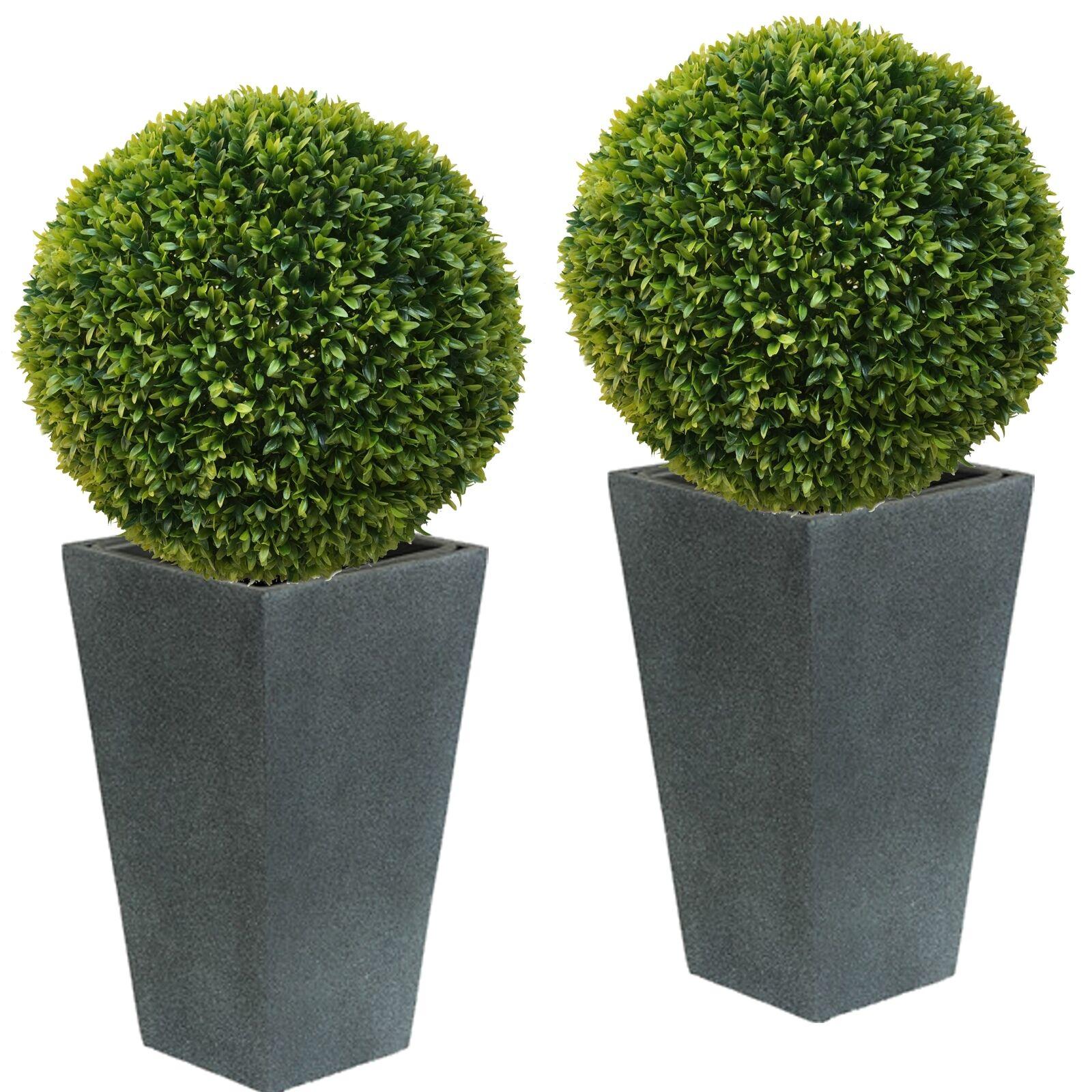 2 x ca. Ø 50 cm  Buchsbaumkugel Edel LIGUSTER Buchsbaum Kugel künstlich wie echt