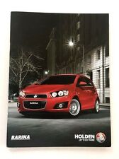 2016 Holden Barina 18-page Australia Car Sales Brochure Catalog -Chevrolet Sonic