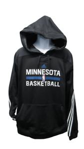 New Minnesota Timberwolves Mens Sizes XL+2 Black Climawarm Adidas Player Hoodie