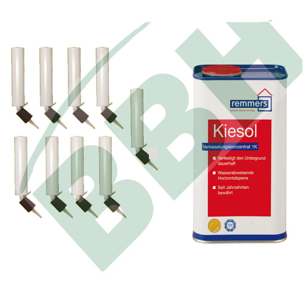 Kiesol Set 4: 5 KG Remmers Kiesol Verkieselung + 9 Dosierkartuschen