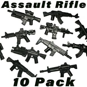 LEGO-Assault-Rifle-Lot-Minifigure-SWAT-Figure-Weapons-Accessory-Military-Army