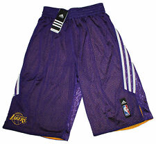 adidas Herren LA Lakers Short SMRRN REV SHORT NBA lila weiß Gr.S NEU @181