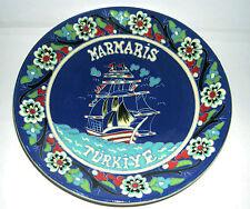 Kutahya Folk Art Pottery Turkey - Hand Made Attractive Wall Plate, 26cm Diameter