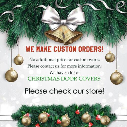 Bannière Arbre de Noël porte murales porte avant Cover Outdoor Holiday Decor ON21