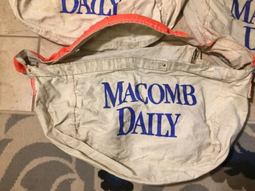 Vtg 60s MACOMB TRIBUNE Canvas Daily Newspaper Shou