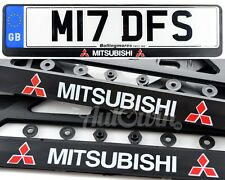 MITSUBISHI Lancer Evolution Euro Standart License Plates Frames 2pcs.