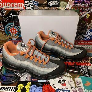 Nike-Air-Max-95-Custom-Black-Gray-Orange-Men-039-s-Size-8-5-Women-039-s-10-DJ2661-991