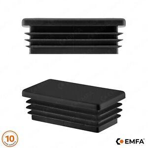 5 Stck Rechteckstopfen 40x20 Wei/ß Kunststoff Endkappen Verschlusskappen