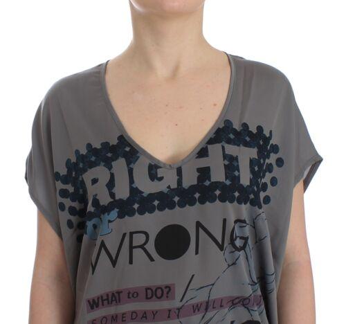 Costume C Etichetta Motivo shirt Grigio Nuova Lunga T E Stampa National Con pwEnxn1ZI