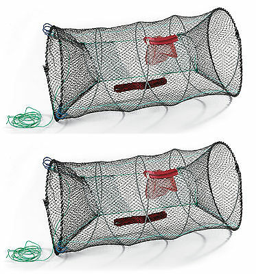 Fishing Net Trap Net Fishing Tackle Mesh Cage Creel Folding Eel For Crab Lobster