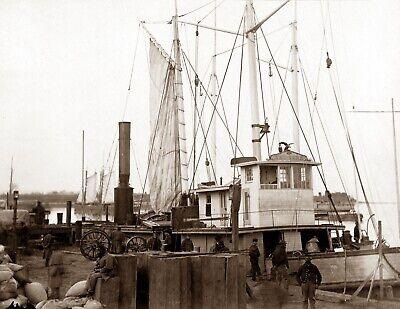 "1863 Deck /& Crew of U.S Ship Vermont Vintage// Old Photo 8.5/"" x 11/"" Reprint"