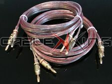 Cable King AIR SEAL 2 x 3m Pair 2.5mm OFC Speaker Wire Terminated 4mm 24k Plugs!