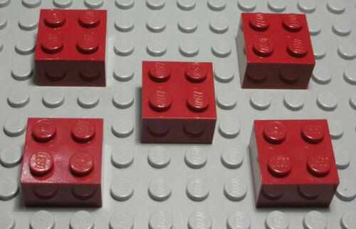 38 Lego Stein 2x2 new Dunkelrot 5 Stück