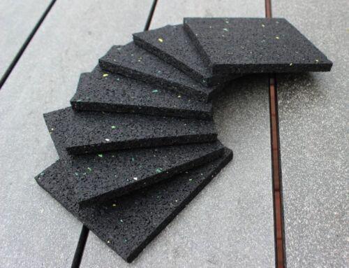 10cm x 10cm x 0,8cm Unterleger für Terrassenlager Stelzlager Gummi Terrassenpads