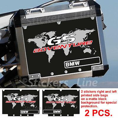 2 Adesivi Stickers Planisfero BMW R 1200 gs valigie adventure R GS adv