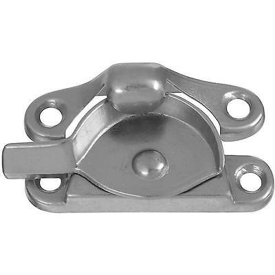 10 Pk White Steel Crescent Shape Double Hung Window Sash Lock N327650