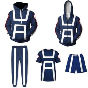 My-Hero-Academia-Men-T-shirt-Trouser-Hoodie-Sport-Gym-Costume-All-Might-Cosplay