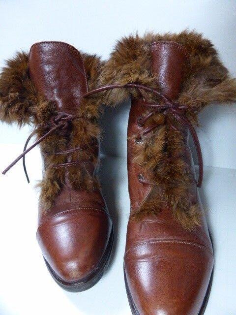 ILGA, Emmedieci pelo di pura lana made in  Leather, Wool, and Fur lined 8