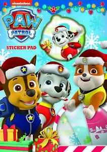 Paw-Patrol-Christmas-Sticker-Pad-Childrens-Activity-Stickers-Xmas-Party-Kids